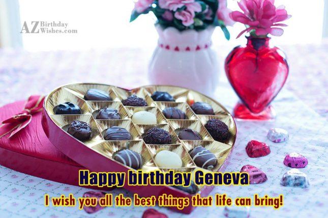 Happy Birthday Geneva - AZBirthdayWishes.com