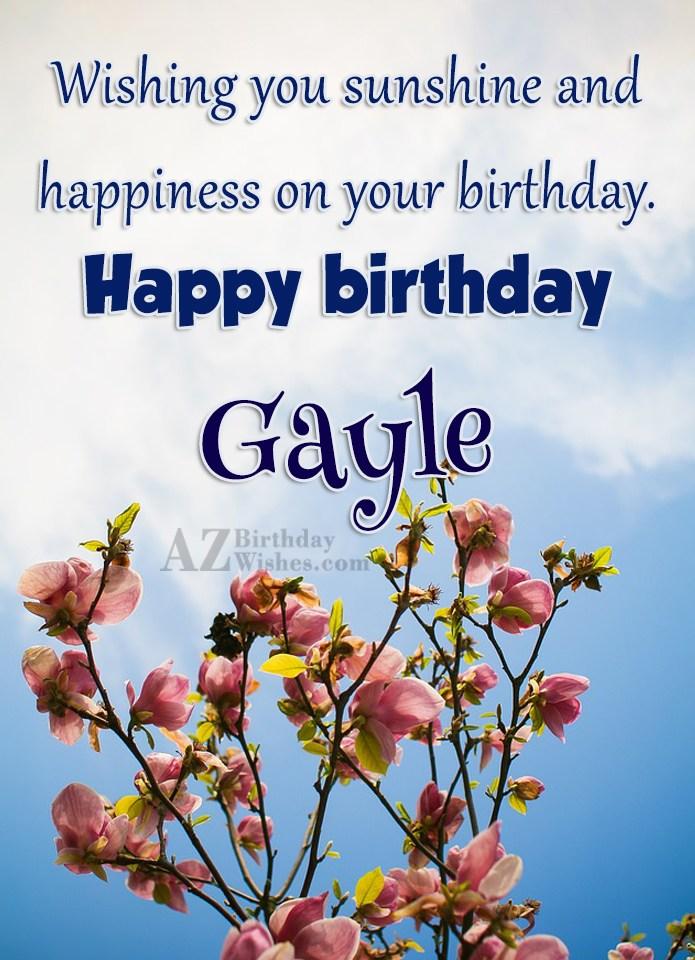 Happy Birthday Gayle