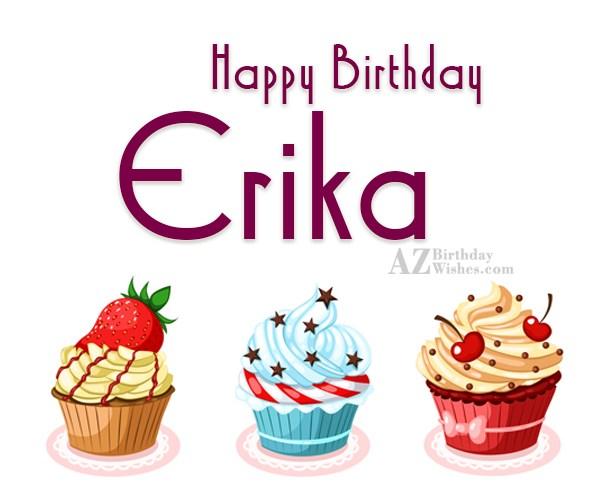 Эрика с днем рождения картинки прикольные, сделать