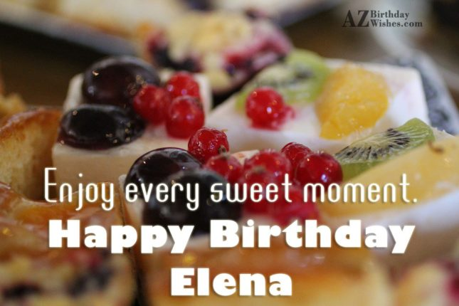 Happy Birthday Elena - AZBirthdayWishes.com