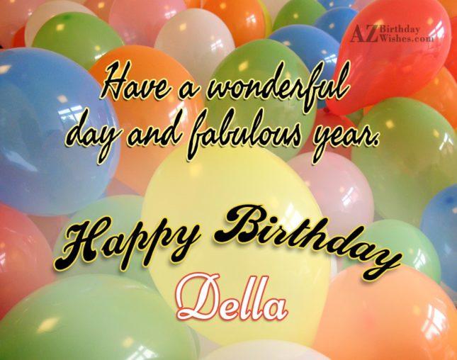Happy Birthday Della - AZBirthdayWishes.com