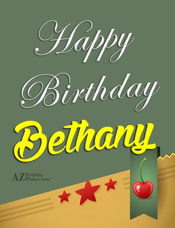 Happy Birthday Bethany - AZBirthdayWishes.com