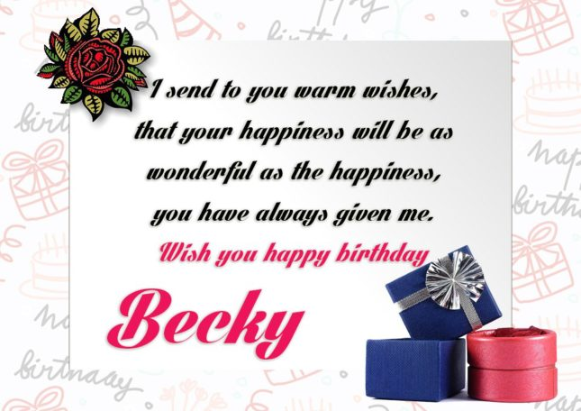 Happy Birthday Becky - AZBirthdayWishes.com