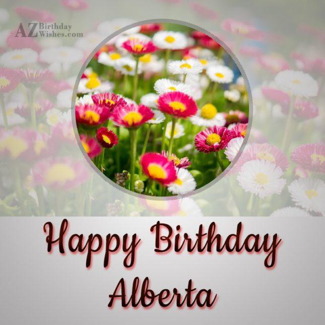 Happy Birthday Alberta - AZBirthdayWishes.com