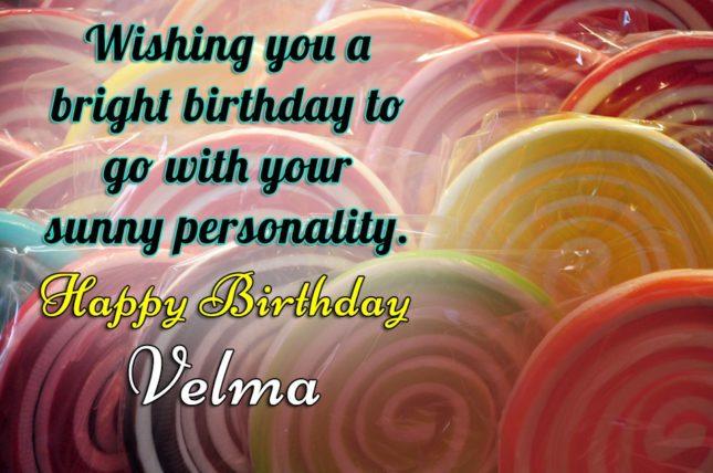 Happy Birthday Velma - AZBirthdayWishes.com