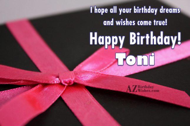 Happy Birthday Toni