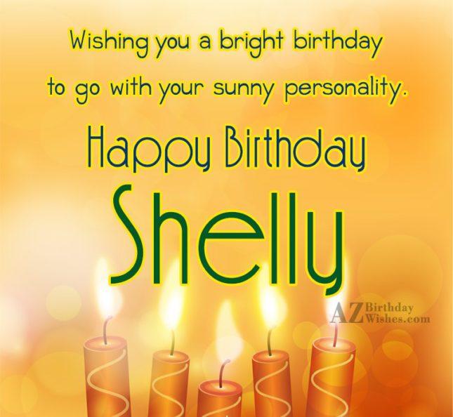 Happy Birthday Shelly