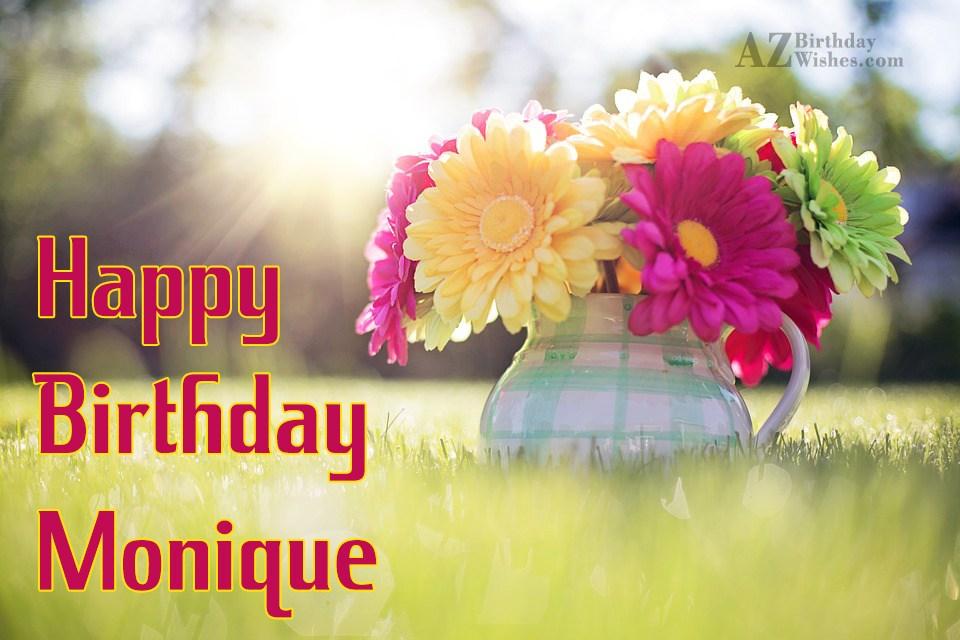 happy birthday monique