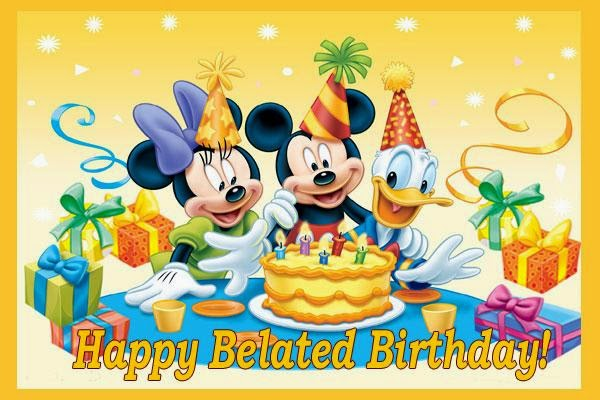 Happy Belated Birthday with cartoons… - AZBirthdayWishes.com