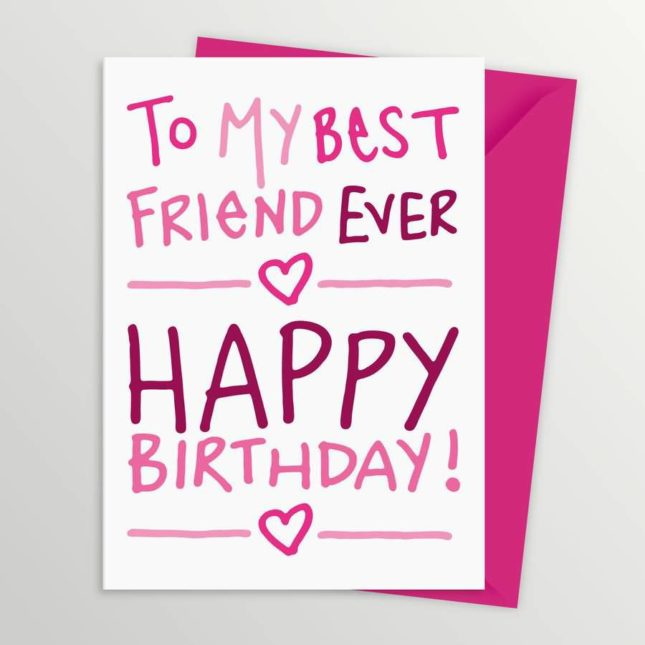 To my best friend ever… - AZBirthdayWishes.com