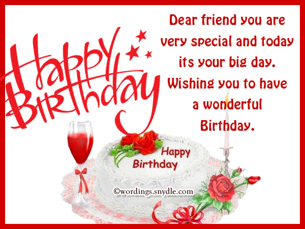 Dear friend you are very special… - AZBirthdayWishes.com
