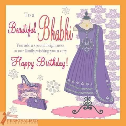 To a beautiful bhabhi… - AZBirthdayWishes.com