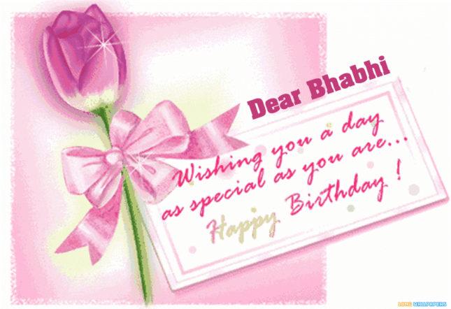Dear bhabi. wishing you a special birthday… - AZBirthdayWishes.com