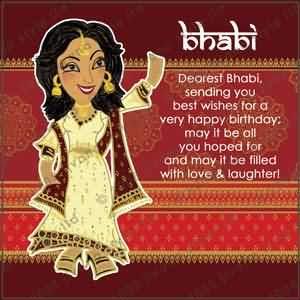 Dearest bhabi sending you birthday wishes… - AZBirthdayWishes.com