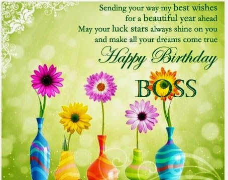 Sending you my warm wishes. Happy birthday boss… - AZBirthdayWishes.com