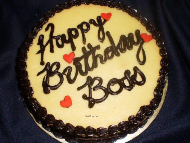 Happy birthday boss on cake… - AZBirthdayWishes.com