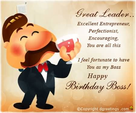 I feel fortunate to have you as my boss…Happy birthday boss - AZBirthdayWishes.com