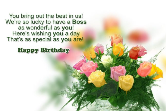 We are lucky to have you as our boss. Happy birthday boss… - AZBirthdayWishes.com