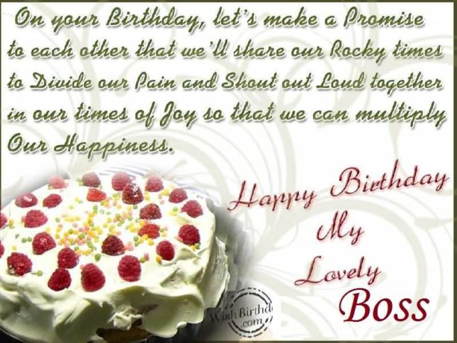 Happy birthday my lovely boss… - AZBirthdayWishes.com