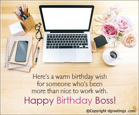 Here's a warm birthday wish boss… - AZBirthdayWishes.com