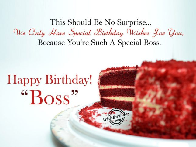 You are such a special boss. Happy birthday boss. - AZBirthdayWishes.com