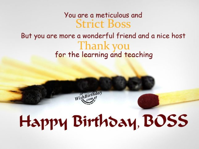 Happy birthday boss you are a wonderful friend… - AZBirthdayWishes.com