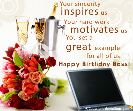 You set a great example for us. Happy birthday boss… - AZBirthdayWishes.com