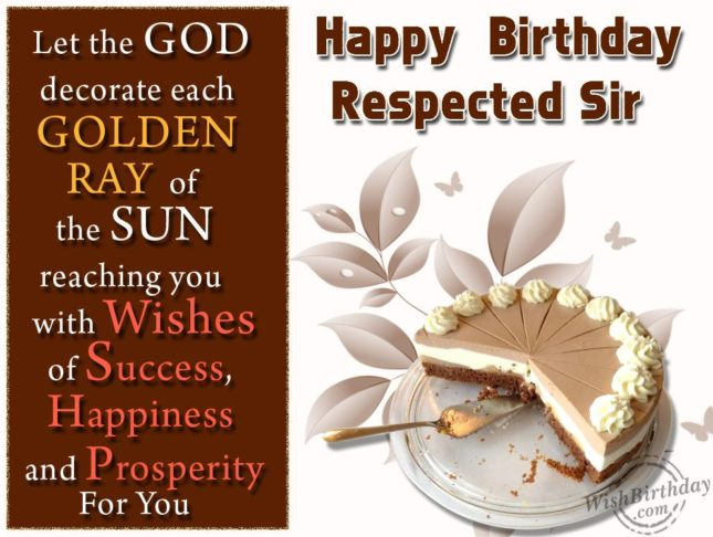 Happy birthday respected sir… - AZBirthdayWishes.com
