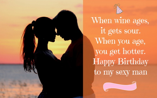 Happy birthday to my sexy man… - AZBirthdayWishes.com