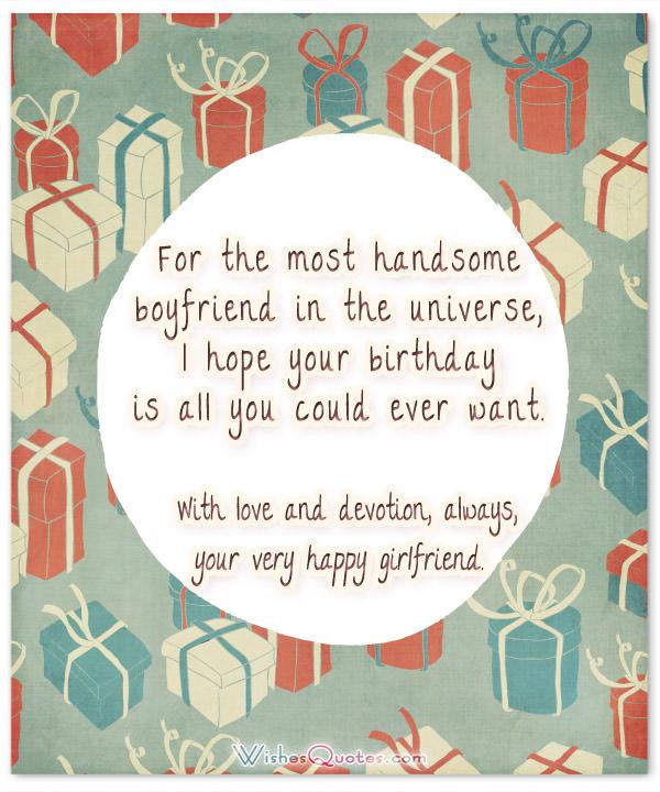 Happy birthday to the most handsome boyfriend…