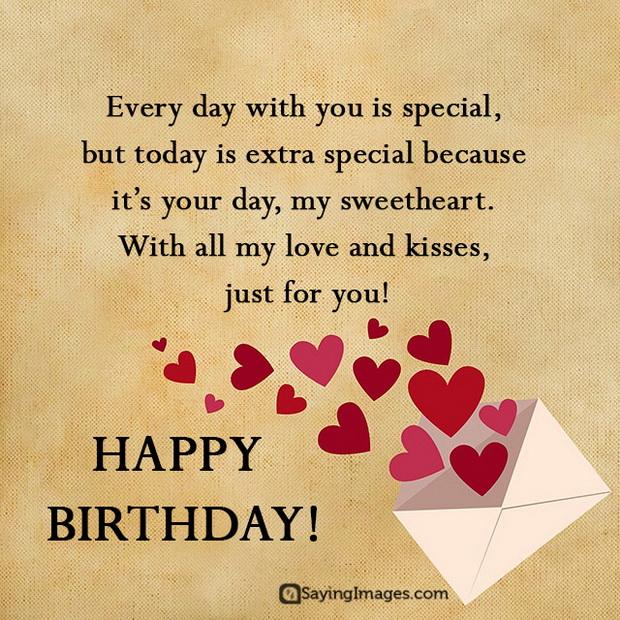 Happy birthday my sweetheart… - AZBirthdayWishes.com