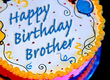 Happy birthday brother on a cake… - AZBirthdayWishes.com