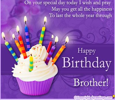 Happy birthday brother. May you get all the happiness… - AZBirthdayWishes.com