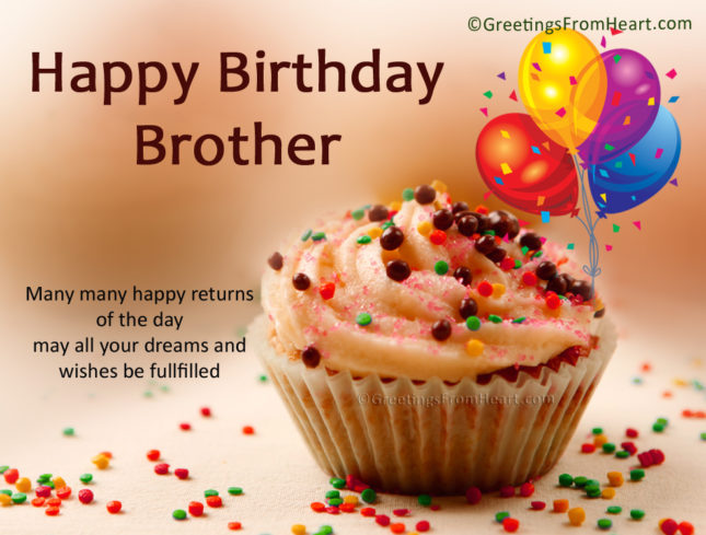 Happy birthday brother and many happy returns of the day… - AZBirthdayWishes.com