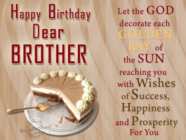 Happy birthday dear brother… - AZBirthdayWishes.com