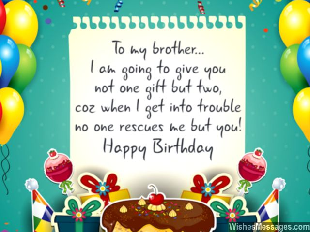 To my brother,Happy birthday… - AZBirthdayWishes.com