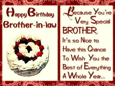 Happy Birthday brother-in-law. You are very special… - AZBirthdayWishes.com