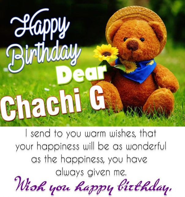 Happy Birthday dear chachi ji… - AZBirthdayWishes.com