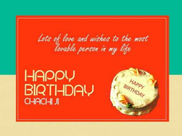 Lots of love and wishes… Happy Birthday chachi ji… - AZBirthdayWishes.com