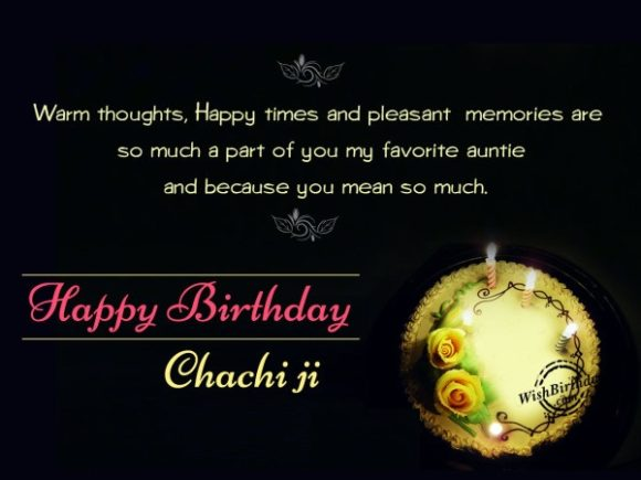 You mean so much. Happy Birthday chachi ji… - AZBirthdayWishes.com