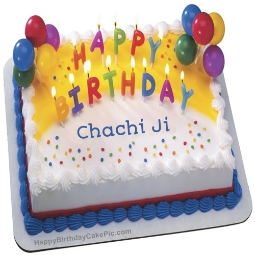 Happy Birthday chachi ji on cake… - AZBirthdayWishes.com