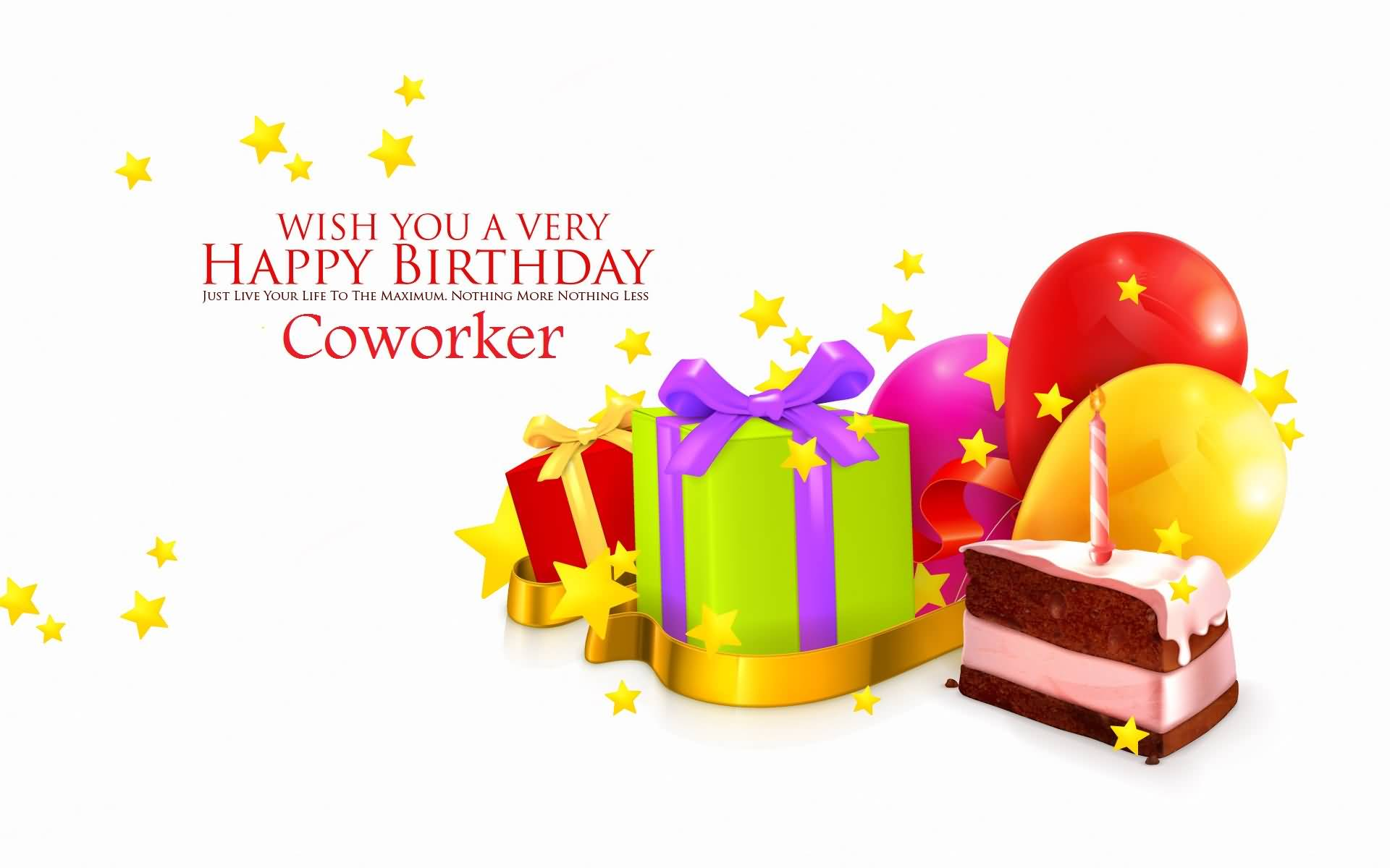Wish You A Very Happy Birthday Coworker