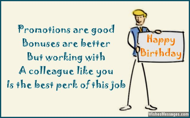 Working with a colleague like you is the best part…Happy Birthday - AZBirthdayWishes.com