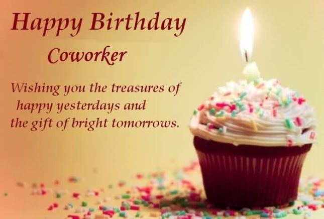 Happy Birthday coworker. Wishing you… - AZBirthdayWishes.com