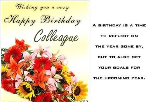 Wishing you a very Happy Birthday colleague… - AZBirthdayWishes.com