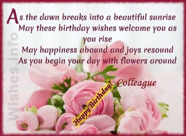 Happy Birthday colleague… - AZBirthdayWishes.com