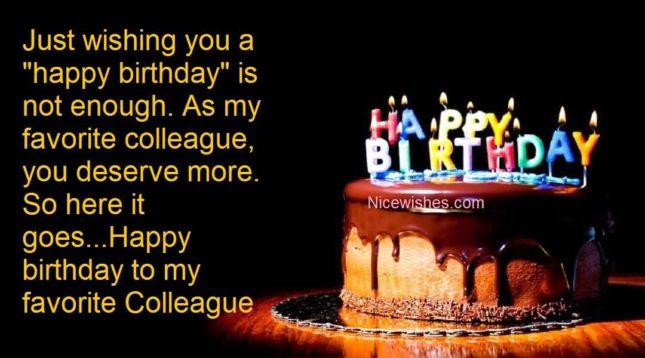 Happy Birthday to my favourite colleague… - AZBirthdayWishes.com