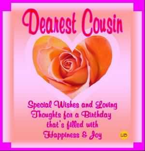 Dearest cousin, special wishes and lovely thoughts… - AZBirthdayWishes.com