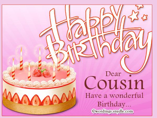 Happy Birthday dear cousin. Have a wonderful birthday… - AZBirthdayWishes.com