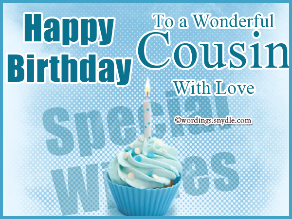Happy Birthday .To a wonderful cousin with love… - AZBirthdayWishes.com